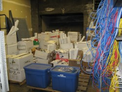 Paper boxes in boiler rooms replaced by COBie.