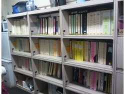 Shelves full of O&M manuals replaced by COBie.